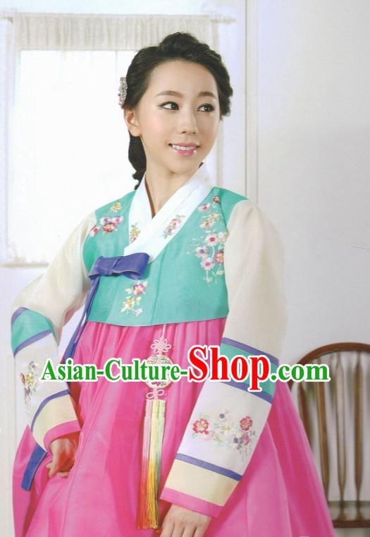 Korean Hanbok Traditional Korea Clothing Wedding Dress Birthday ...