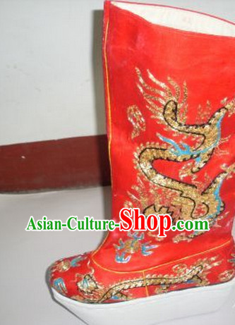 1b279f65f07b Chinese Traditional Wedding Bridal over the Knee Boots Ankle Boots