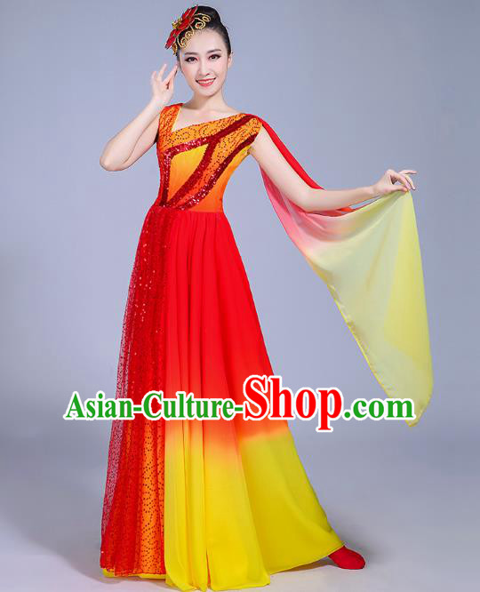 Traditional Chinese Modern Dance Opening Dance Dress Clothing 6709f1c56