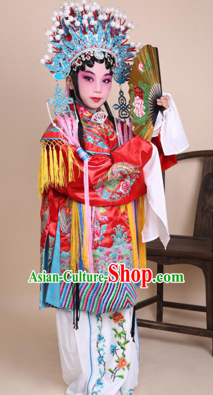 72b7f5e0a Traditional China Beijing Opera Costume Senior Concubine Red Embroidered  Robe and Headwear, Ancient Chinese Peking Opera Diva Hua Tan Embroidery  Dress ...